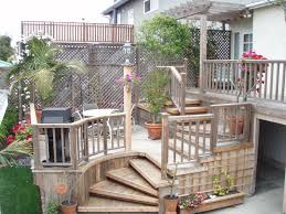 Backyard Steps Ideas Exterior Magnificent Small Deck Designs Ideas With Terraced
