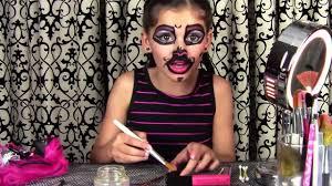 monster high doll halloween monster high catty noir doll costume makeup tutorial for halloween