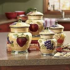 grape canister sets kitchen decorative kitchen canisters sets foter