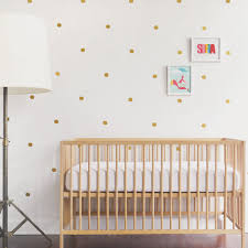 Wall Decals For Baby Room Gold Wall Decal Vinyl Wall Decal 91 Gold Dots Kids Decor