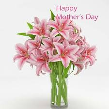 Flowers For Mom Buy Gift For Mom Pink Lilies Glass Vase Flower For Mothers