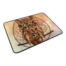 Owl Kitchen Rugs Great Shop Welcome Mat Owl Doormats Bathroom Kitchen