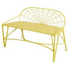 Steel Garden Bench Metellina Modern Classic Metal Garden Bench Lemon Yellow Kathy