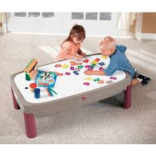 train and track table step2 deluxe canyon road train track table with lid target