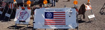 Back Of Oregon State Flag One Of The Militia Groups That Helped Cliven Bundy Is Now Helping