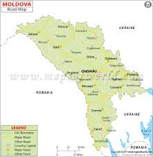 where is moldova on the map road map