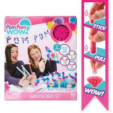 amazon com pom pom wow snap u0026 decorate set toys u0026 games