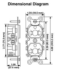 leviton 5028 i 15 amp 250 volt nema 6 15r 2p 3w narrow body