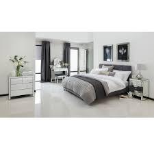 Venetian Mirrored Bedroom Furniture Romano Crystal Mirrored Chest 4 Drawer Venetian Mirrored Furniture