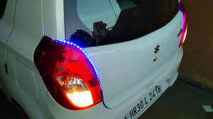 Install Led Light Strip by How To Install Led Strips Lights In Car Alto 800 With Reverse