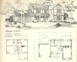 Tudor Revival House Plans by Brilliant Vintage House Plans Una Nixon Hopkins Intended