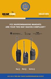 two way radio narrowbanding guide