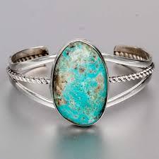 turquoise stone bracelet images Large turquoise stone sterling silver bracelet 925 adam fierro ebay jpg