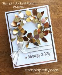 stampin up leaf punch holiday christmas card ideas mary fish