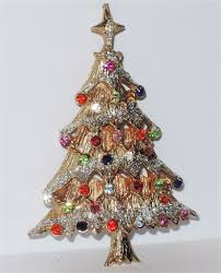 castlecliff signed glitter christmas tree pin book piece under