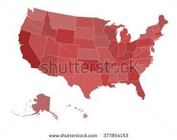 us vector map blank map united states america vector stock vector 377854144