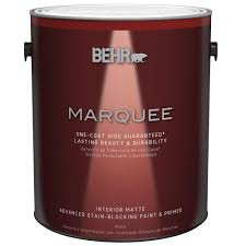 home depot paints interior behr marquee 1 gal ultra white matte one coat hide interior