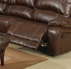 Modern Reclining Sectional Sofas by Bonded Leather Modern Reclining Sectional Sofa W Console