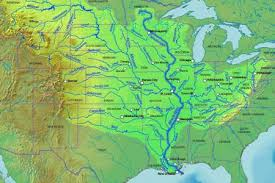map usa rivers mississippi mississippi river drainage map mississippi river and