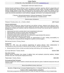Canadian Sample Resume by Download Aix System Administration Sample Resume