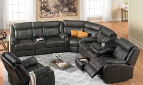 Black Fabric Reclining Sofa by Furniture Sectional Recliner Sofas Microfiber Reclining