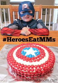 captain america cakes how to make a captain america shield cake with m m s
