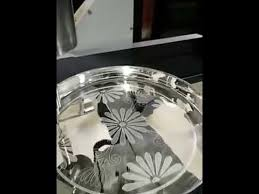 engraved silver platter cnc engraving on silver plate 2