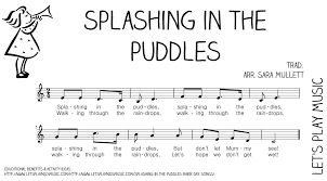 splashing in the puddles rainy day songs