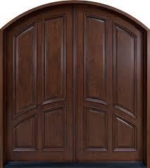 front door custom double solid wood with custom finish