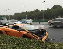 salvage lamborghini aventador for sale wreckage of 186k supercar up for bids after motorway smash