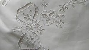 vintage edwardian 1920 bed sheet italian cutwork embroidery ribbon