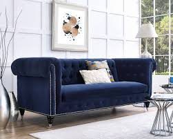 furniture enchanting blue tufted velvet sofa interior design