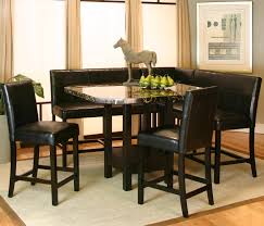 Pub Dining Room Tables Square Clipped Corner Pub Table W Faux Marble Top By Cramco Inc