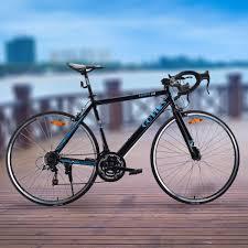 amazon com goplus commuter bike road bike quick release aluminum
