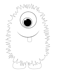 monster coloring sheets coloring pages kids