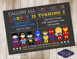 superhero birthday invitations kawaiitheo com
