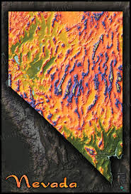 Oregon Topographic Map by Nevada Physical Features Map Artistic Topography U0026 Mountains