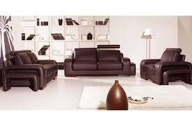 canape cuir marron 2 places ensemble 3 pièces canapé 3 places 2 places fauteuil en cuir