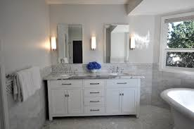 White Tile Bathroom White Marble Chaser Tile Envytile Envy Full - Bathrooms with white tile