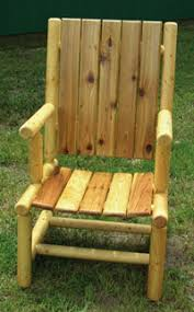 Log Outdoor Furniture by Hand Made Log Patio Chairs