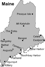 map of maine cities maine travel guide
