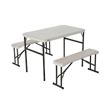 retractable table amazoncom leisure season folding picnic table and bench solid