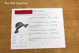 thanksgiving themed paper speech therapy thanksgiving the pedi speechie