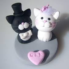 cat cake topper cat cake topper best wedding products on and groom two cats