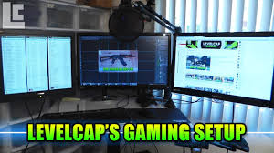Best Gaming Computer Desks by Levelcap U0027s Gaming Computer Setup Origin Pc U0026 Sit Stand Desk Youtube