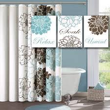 Floral Bathroom Rugs Extraordinary Brown And Blue Bathrooms Bathroom Light Colored