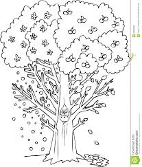 apple tree coloring pages free printable apple downlload