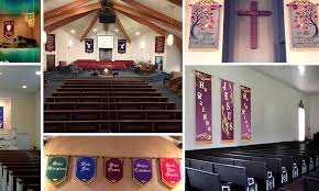 church wedding banners decorate church weddings with banners