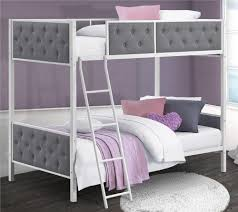 dhp furniture chesterfield upholstered bunk bed