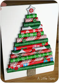 christmas tree made in paper christmas lights decoration